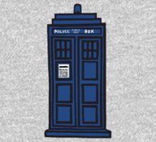 Comic-styled TARDIS Kids Tee