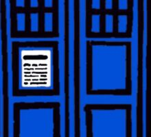 Comic-styled TARDIS Sticker