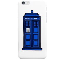 Comic-styled TARDIS iPhone Case/Skin