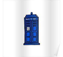 Comic-styled TARDIS Poster