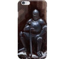 Sir Sitsalot the seated knight iPhone Case/Skin
