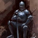Sir Sitsalot the seated knight by Daniel Rodgers