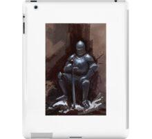 Sir Sitsalot the seated knight iPad Case/Skin