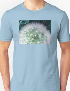 Cool white dandelion with waterdrops T-Shirt