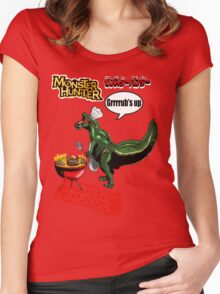 Monster Hunter Grub's up BBQ Women's Fitted Scoop T-Shirt