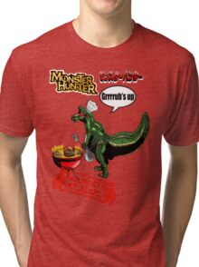 Monster Hunter Grub's up BBQ Tri-blend T-Shirt