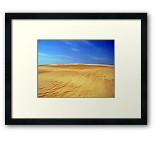 Climbing the Dune Framed Print