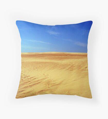 Climbing the Dune Throw Pillow