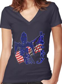 Liberty  Women's Fitted V-Neck T-Shirt