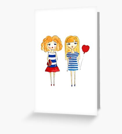 marine girls Greeting Card