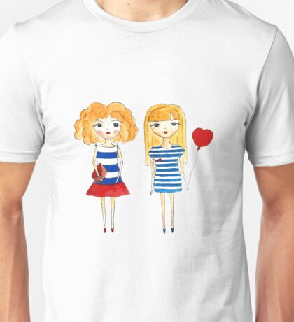 marine girls Unisex T-Shirt