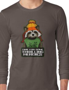Raccoon finds Serenity Long Sleeve T-Shirt