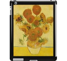 'Still Life with Sunflowers' by Vincent Van Gogh (Reproduction) iPad Case/Skin