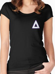 Bastille logo small Women's Fitted Scoop T-Shirt