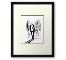The only one who saves me is me Framed Print