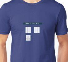 Minimal Tardis Unisex T-Shirt
