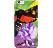 Cool black butterfly with red polka dots iPhone Case/Skin