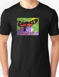Cool black butterfly with red polka dots Unisex T-Shirt