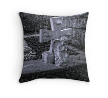 Where Angels Weep Throw Pillow