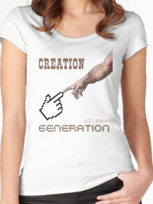 Creation... Women's Fitted Scoop T-Shirt
