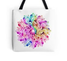 Rainbow Watercolor Paisley Flower Tote Bag