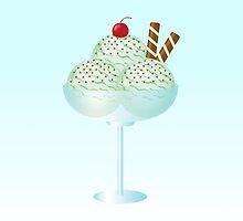 Mint Ice Cream Sundae Bowl by destei