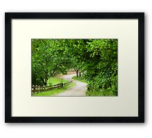 Take Me Home.....Old Country Road Framed Print