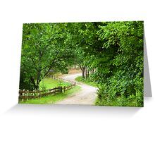 Take Me Home.....Old Country Road Greeting Card