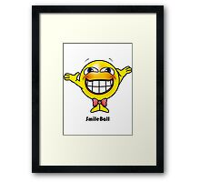 Smile Ball Framed Print