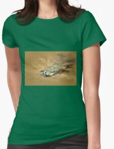 Blue Crab Hiding in the Sand Womens Fitted T-Shirt