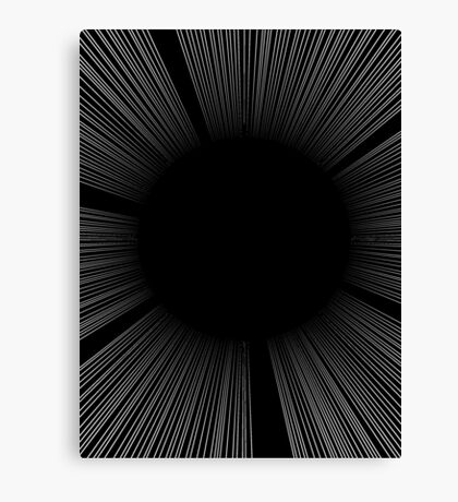 SCREEN TONE- Black flash Canvas Print