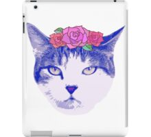 vintage cat with flowers iPad Case/Skin