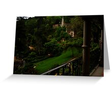 Quinta da Regaleira, view from the palace  Greeting Card