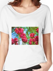 Red Tulips Women's Relaxed Fit T-Shirt