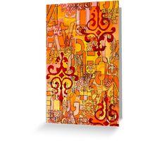 Orange Abstract Greeting Card