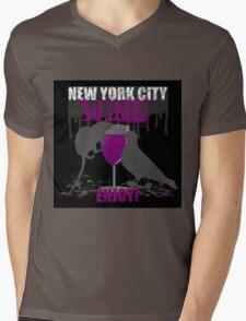 NEW YORK CITY WINE - ENJOY! Mens V-Neck T-Shirt