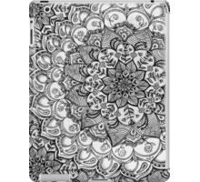 Shades of Grey - mono floral doodle iPad Case/Skin