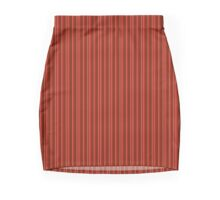 Red and Gold Stripes Mini Skirt
