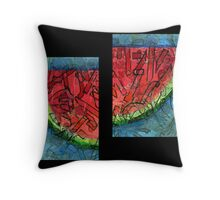 Watermellon Slices Throw Pillow