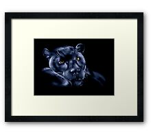 Midnight Panther Framed Print