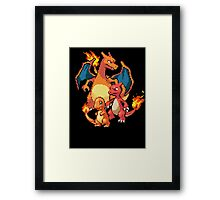 Charmander Evolutions Framed Print
