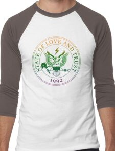 State of Love and Trust Men's Baseball ¾ T-Shirt