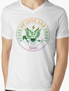 State of Love and Trust Mens V-Neck T-Shirt