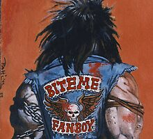 Lobo's Back: reproduction hand painted painting by Patricia Anne McCarty-Tamayo