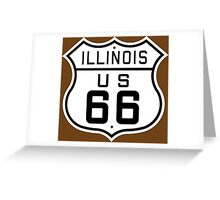 Illinois Route 66 Greeting Card