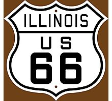Illinois Route 66 Photographic Print