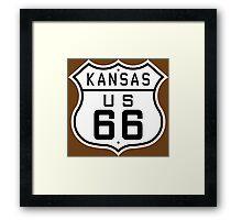 Kansas Route 66 Framed Print