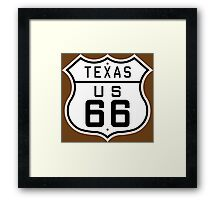 Texas Route 66 Framed Print