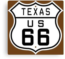 Texas Route 66 Canvas Print
