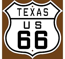Texas Route 66 Photographic Print